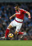 Alvaro Negredo of Middlesbrough during the Premier League match at the Etihad Stadium, Manchester. Picture date: November 5th, 2016. Pic Simon Bellis/Sportimage