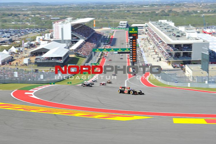 15.-17.11.2013, Circuit of The Americas, Austin, USA, FIA, Formel 1, United States Grand Prix, Qualifikation, im Bild  Romain Grosjean (FRA) Lotus Renault F1 Team <br />  Foto &copy; nph / Mathis