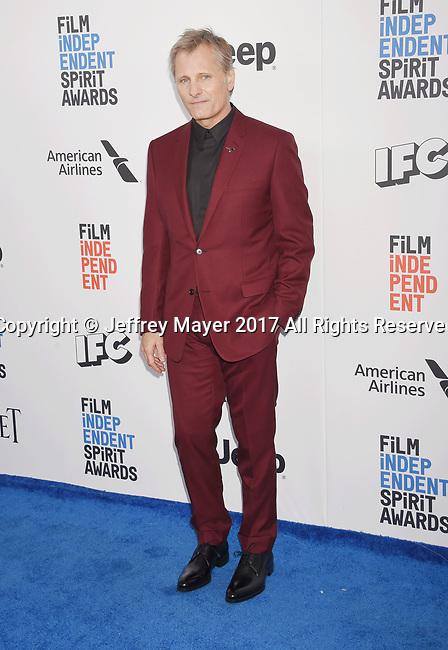 SANTA MONICA, CA - FEBRUARY 25: Actor Viggo Mortensen attends the 2017 Film Independent Spirit Awards at the Santa Monica Pier on February 25, 2017 in Santa Monica, California.