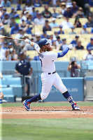 07/09/17 Los Angeles, CA: Los Angeles Dodgers third baseman Justin Turner #10 during an MLB game between the Los Angeles Dodgers and the Kansas City Royals played at Dodger Stadium.
