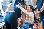 Natalia de Molina kisses Andrea Fandos during 'Las Ninas' filming. August 2, 2019. (ALTERPHOTOS/Francis González)