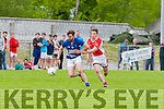 Pa Joy Laune Rangers tries to get past Gearoid Mac Gearailt West Kerry during their County SFC round 1 game in Killorglin on Sunday