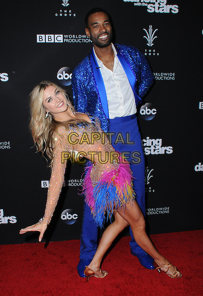 22 November 2016 - Los Angeles, California. Calvin Johnson, Jr., Lindsay Arnold. ABC's &quot;Dancing With The Stars&quot; Season 23 Finale held at The Grove. <br /> CAP/ADM/BT<br /> &copy;BT/ADM/Capital Pictures