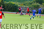Action from QPR v Tralee Dynamos in the Greyhound Bar Cup Quarter final in Mounthawk Park on Sunday.