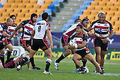 Lelia Masaga steps past the air tackle of Malakai Ravulo. Air New Zealand Cup rugby game between Counties Manukau Steelers & North Harbour, played at Mt Smart Stadium on Saturday 4th of  October 2008. After being tied up 14 all at halftime North Harbour went on to win 57 - 28.