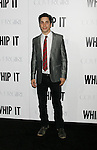 "HOLLYWOOD, CA. - September 29: Justin Long arrives at the Los Angeles premiere of ""Whip It"" at the Grauman's Chinese Theatre on September 29, 2009 in Hollywood, California."