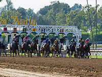 ARCADIA, CA. JUNE 17:  The start of the Summertime Oaks (Grade ll) on June 17, 2017 at Santa Anita Park in Arcadia, CA. (Photo by Casey Phillips/Eclipse Sportswire/Getty Images)