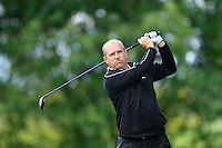 Joe Lyons (Galway) on the 8th tee during round 1 of The Mullingar Scratch Cup in Mullingar Golf Club on Sunday 3rd August 2014.<br /> Picture:  Thos Caffrey / www.golffile.ie