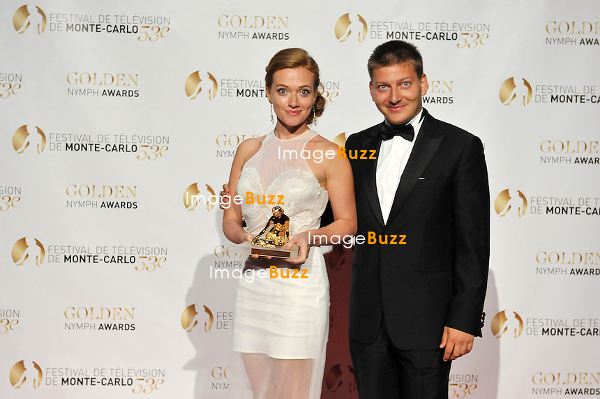 CPE/June 13, 2013-Celebs during 53rd Monte-Carlo TV Festival. Golden Nymph Awards Photocall.