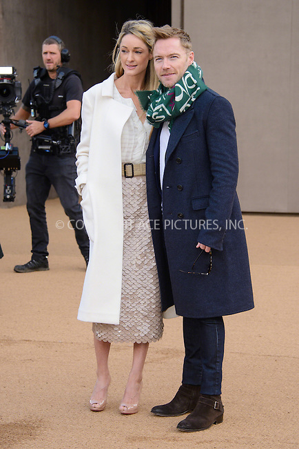 WWW.ACEPIXS.COM<br /> <br /> February 23 2015, London<br /> <br /> Ronan Keating arriving at the Burberry Prorsum Womenswear AW15 at the Brixton Academy on February 23 2015 in London. <br /> <br /> By Line: Famous/ACE Pictures<br /> <br /> <br /> ACE Pictures, Inc.<br /> tel: 646 769 0430<br /> Email: info@acepixs.com<br /> www.acepixs.com