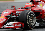 Ferrari's driver Kimi Raikkonen drive during a race at the Circuit de Catalunya on May 11, 2014. <br /> PHOTOCALL3000/PD