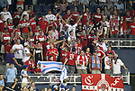 09 June 2011: A section of Chicago Fire fans attend the game in the southeast corner. Sporting Kansas City played the Chicago Fire to a 0-0 tie in the inaugural game at LIVESTRONG Sporting Park in Kansas City, Kansas in a 2011 regular season Major League Soccer game.