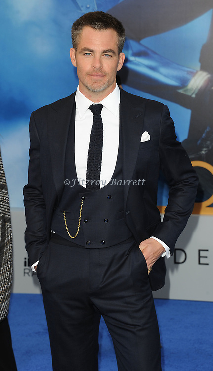 Chris Pine arriving at the Los Angeles world premiere of Wonder Women, held at the Pantages Theatre Hollywood, California on May 25, 2017