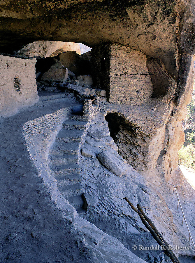 Gila Cliff Dwellings National Monument, New Mexico. Home to the Mogollon people over 700 years ago.