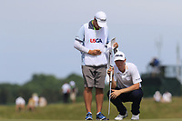 Trey Mullinax (USA) on the 6th green during Friday's Round 2 of the 117th U.S. Open Championship 2017 held at Erin Hills, Erin, Wisconsin, USA. 16th June 2017.<br /> Picture: Eoin Clarke | Golffile<br /> <br /> <br /> All photos usage must carry mandatory copyright credit (&copy; Golffile | Eoin Clarke)