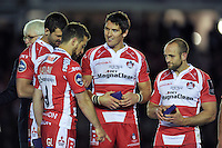James Hook of Gloucester Rugby looks on after the match. European Rugby Challenge Cup Final, between Edinburgh Rugby and Gloucester Rugby on May 1, 2015 at the Twickenham Stoop in London, England. Photo by: Patrick Khachfe / Onside Images