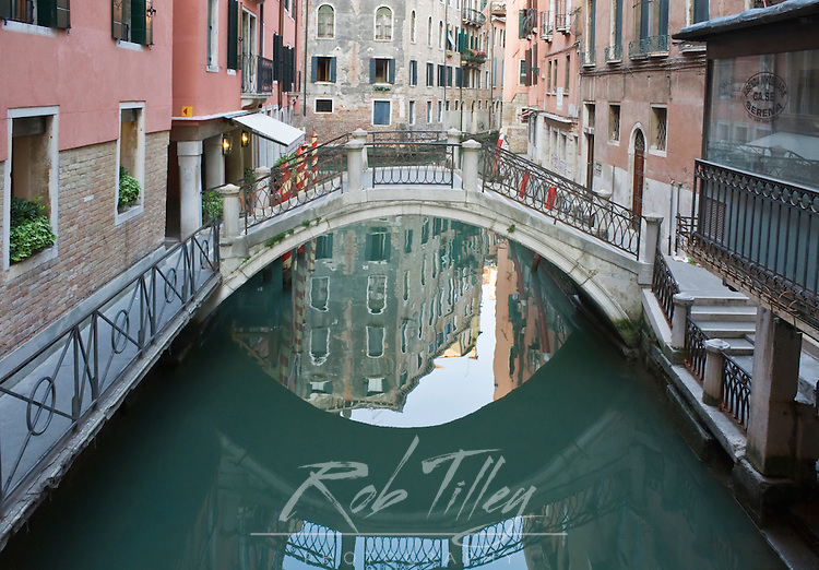 Europe, Italy, Venice, Canal and Reflection