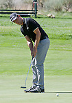 August 5, 2012: Alexandre Rocha putts on the 5th green during the final round of the 2012 Reno-Tahoe Open Golf Tournament at Montreux Golf & Country Club in Reno, Nevada.