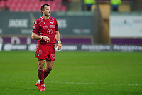 Steffan Hughes of Scarlets during the Guinness Pro14 Round 11 match between the Scarlets and Edinburgh Rugby at the Parc Y Scarlets in Llanelli, Wales, UK. Saturday 15 February 2020