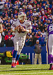 19 October 2014: Buffalo Bills quarterback Kyle Orton looks for an open receiver during the game-winning drive in the fourth quarter against the Minnesota Vikings at Ralph Wilson Stadium in Orchard Park, NY. The Bills defeated the Vikings 17-16 in a dramatic, last minute, comeback touchdown drive. Mandatory Credit: Ed Wolfstein Photo *** RAW (NEF) Image File Available ***