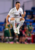 13th July 2020, Orlando, Florida, USA;  Los Angeles Galaxy defender Giancarlo Gonzalez (21) during the MLS Is Back Tournament between the LA Galaxy versus Portland Timbers on July 13, 2020 at the ESPN Wide World of Sports, Orlando FL.