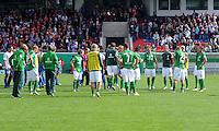 FUSSBALL   DFB POKAL   SAISON 2011/2012  1. Hauptrunde FC Heidenheim - Werder Bremen              30.07.2011 Enttaeuschung bei SV Werder Bremen