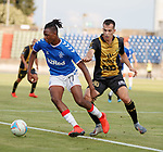 01.08.2019 Progres Niederkorn v Rangers: Joe Aribo and Christian Salaj