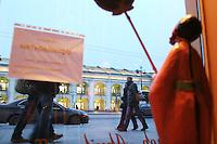 San Pietroburgo: un locale sulla la Niesky Prospekt di sera