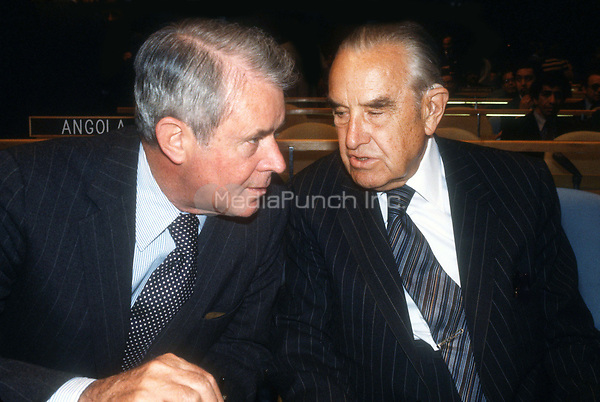 Cyrus Vance and Averell Harriman 1978<br /> Photo By Adam Scull/PHOTOlink.net /MediaPunch
