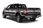 Car pictures of rear three quarter view of 2018 Ford F-150 Lariat 4 Door Pick-up Angular Rear