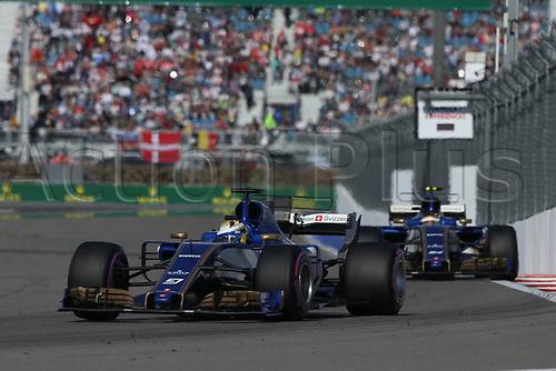 April 30th 2017, Sochi, Russia;  FIA Formula One World Championship 2017, Grand Prix of Russia, <br /> #9 Marcus Ericsson (SWE, Sauber F1 Team)