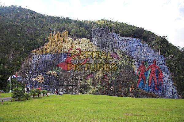 Mural de la Prehistoria, Dos Hermanas Mogote, Vinales Valley, Pinar Del Rio Province, Cuba
