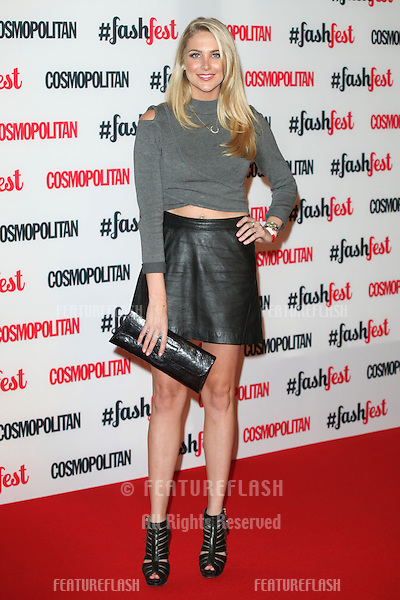Stephanie Pratt arriving for the Cosmopolitan Fashfest, at Battersea Evolution, London. 18/09/2014 Picture by: Alexandra Glen / Featureflash