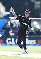 Tim Southee.<br /> New Zealand Black Caps v England, ODI series, University Oval in Dunedin, New Zealand. Wednesday 7 March 2018. &copy; Copyright Photo: Andrew Cornaga / www.Photosport.nz