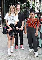 NEW YORK, NY - August 06: Laura Toggs, Aodhan King and Melodie Wagner of music group Hillsong Young &amp; Free at Build Series in New York City on August 06, 2018 <br /> CAP/MPI/RW<br /> &copy;RW/MPI/Capital Pictures