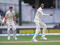 England's Jofra Archer prematurely celebrates dismissing NZ captain Kane Williamson (Joe Denley, front left, dropped the catch) during day five of the international cricket 2nd test match between NZ Black Caps and England at Seddon Park in Hamilton, New Zealand on Tuesday, 3 December 2019. Photo: Dave Lintott / lintottphoto.co.nz