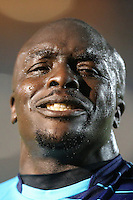 Adebayo Akinfenwa of Wycombe Wanderers during the Sky Bet League 2 match between Wycombe Wanderers and Morecambe at Adams Park, High Wycombe, England on 12 November 2016. Photo by David Horn.