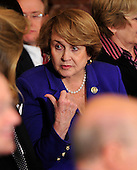 Washington, D.C. - March 23, 2010 -- United States Representative Louise Slaughter (Democrat of New York) speaks with Caroline Kennedy (not pictured) prior to the ceremony where President Barack Obama signed the version of the health care bill that was passed by the U.S. House of Representatives in the East Room of the White House in Washington, D.C. on Tuesday, March 23, 2010..Credit: Ron Sachs / CNP.(RESTRICTION: NO New York or New Jersey Newspapers or newspapers within a 75 mile radius of New York City)