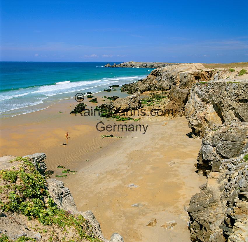 France, Brittany, Département Morbihan, Quiberon peninsula: beach and The Wild Coast | Frankreich, Bretagne, Département Morbihan, Quiberon Halbinsel: mit Strand und der Côte Sauvage
