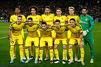 27th November 2019; Camp Nou, Barcelona, Catalonia, Spain; UEFA Champions League Football, Barcelona versus Borussia Dortmund;  Borussia line up - Editorial Use