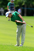 Matteo Manassero (ITA) on the 9th during Round 2 of the Irish Open at Fota Island on Friday 20th June 2014.<br /> Picture:  Thos Caffrey / www.golffile.ie