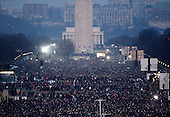 Washington, DC - January 20, 2009 -- People fill the National Mall in the early morning hours of Tuesday, January 20, 2009, as they wait for the Inauguration of Barack Obama as the 44th President of the United States..Credit: Scott Andrews - Pool via CNP