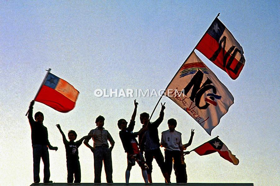 Comemoração pela vitório do não à ditadura militar. Chile. 1988. Foto de Salomon Cytrynowicz.