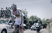 Daniel McLay (GBR/Fortuneo-Vital Concept) up the Montée de Naves d'Aubrac (Cat1/1058m/8.9km/6.4%)<br /> <br /> 104th Tour de France 2017<br /> Stage 15 - Laissac-Sévérac l'Église › Le Puy-en-Velay (189km)