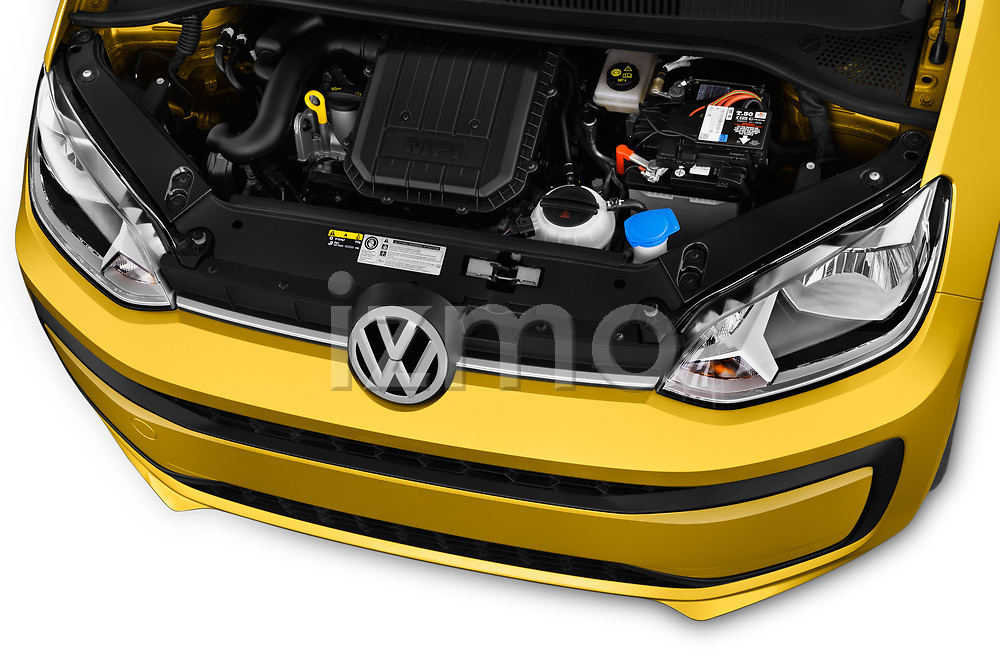 Car Stock 2017 Volkswagen UP Move-up 5 Door Hatchback Engine  high angle detail view