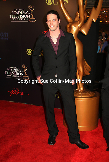 Nathan Parsons - Red Carpet - 37th Annual Daytime Emmy Awards on June 27, 2010 at Las Vegas Hilton, Las Vegas, Nevada, USA. (Photo by Sue Coflin/Max Photos)