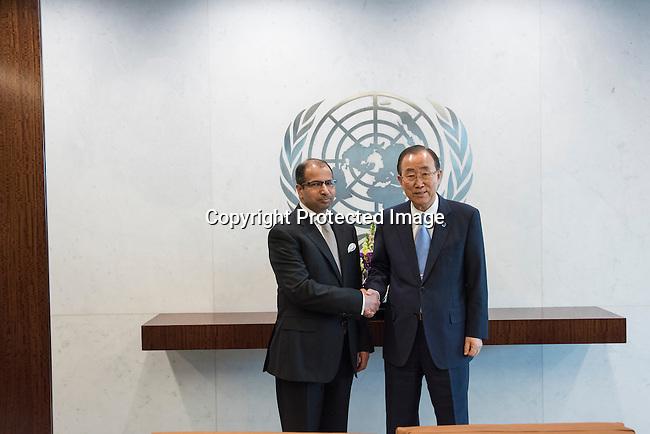 The Secretary-General with H.E. Mr. Salim Al-Jubouri, Speaker of Parliament, Iraq