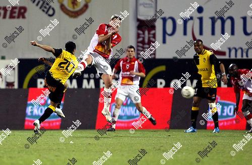 2010-03-17 / Voetbal / seizoen 2009-2010 / R. Antwerp FC - SK Lierse / Mohamed Abdel Wahed scoort hier de 0-1 ..Foto: Mpics
