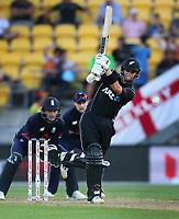 Blackcaps Mark Chapman bats during the third ODI cricket match between the Blackcaps & England at Westpac stadium, Wellington. 3rd March 2018. © Copyright Photo: Grant Down / www.photosport.nz