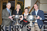 CORK BLOOD: Delighter to hold the League Cup and the Sam Maguire  Cup in 2010 were, l-r: Finbar,Eileen, Una and Malacky Nagle (Tralee) at the Kerry Cork association dinner in Ballyroe Heights Hotel, Tralee on Friday night..